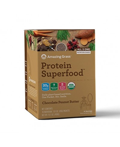 Amazing Grass Protein Superfood Chocolate & Peanut Butter sachets