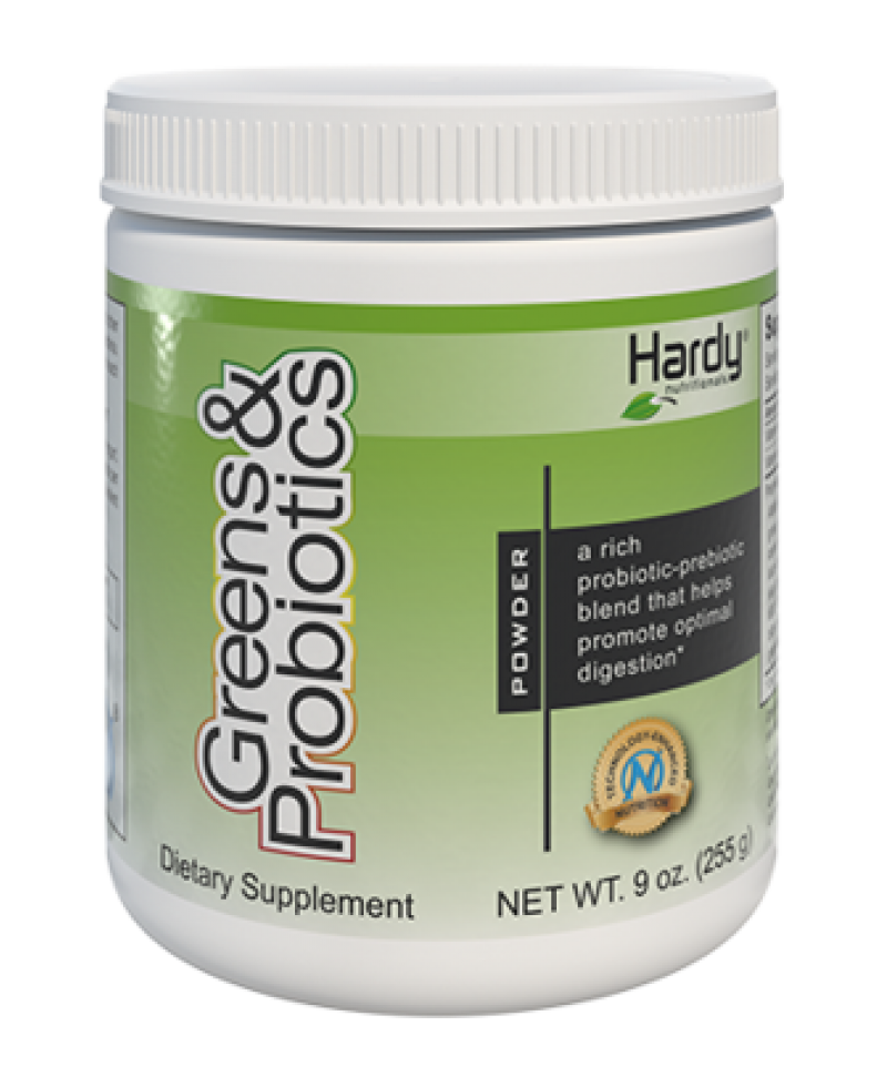 Hardy Greens & Probiotics Powder 255g