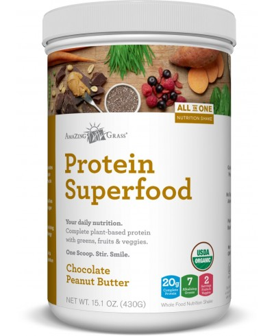 Amazing Grass Protein Superfood Chocolate & Peanut Butter tub 430g