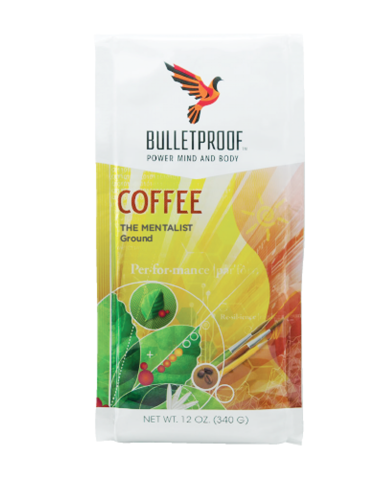Bulletproof Coffee The Mentalist Dark Roast Ground  12oz