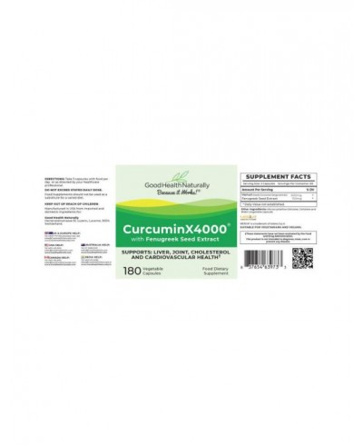CurcuminX4000 with Fenugreek Seed
