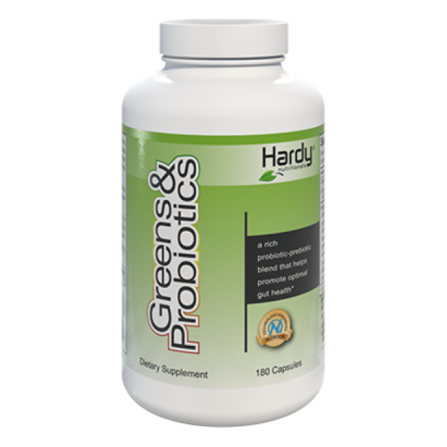 Hardy Greens and Probiotics 180 capsules