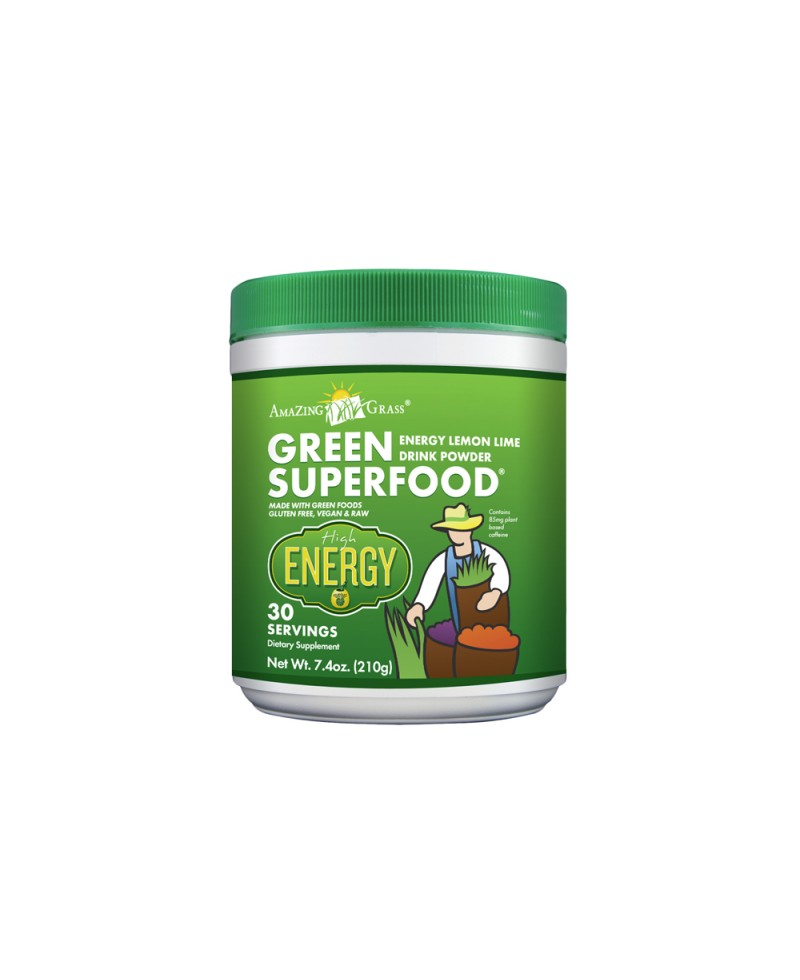 Amazing Grass Energy Green Superfood Lemon Lime Matcha 210g tub